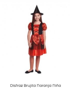 disfraz hocus pocus bruja niña naranja