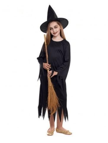 disfraces de bruja niña clasica negro
