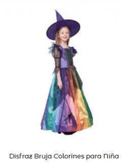 disfraz hocus pocus bruja niña multicolor