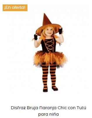 disfraz hocus pocus bruja niña naranja original