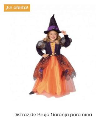 disfraz hocus pocus bruja niña naranja infantil