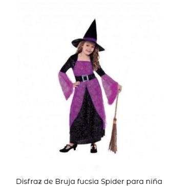 disfraz hocus pocus bruja niña morado