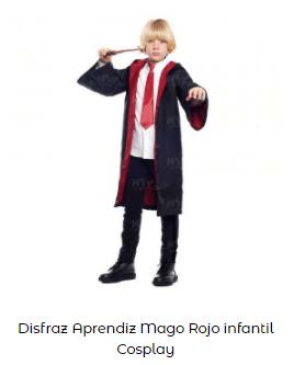 disfraces de mago gryffindor harry potter