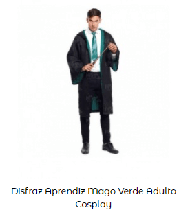 disfraces de mago slytherin harry potter