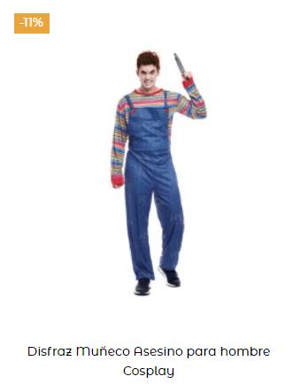 disfraz chucky muñeco diabólico hombre películas terror