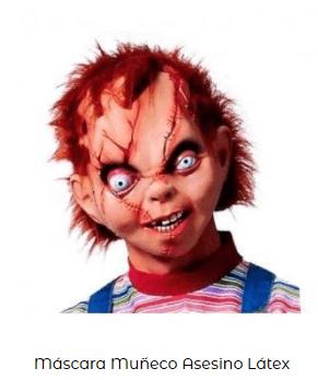 disfraz chucky muñeco diabólico máscara