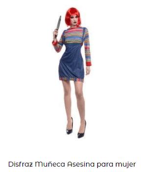 disfraz chucky muñeco diabólico mujer películas terror