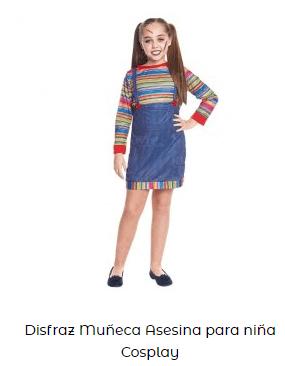 disfraz chucky muñeco diabólico niña películas terror