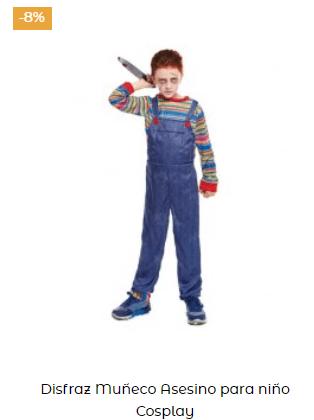 disfraz chucky muñeco diabólico niño películas terror
