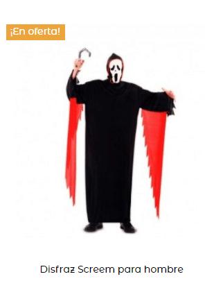 disfraz de scream hombre adulto con mangas
