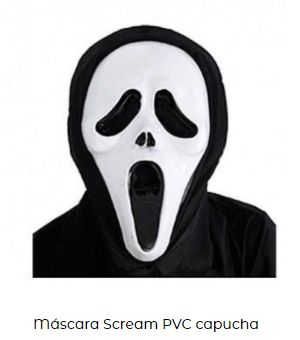 disfraz scream máscara películas terror