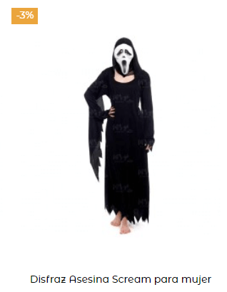 disfraz de scream mujer adulto