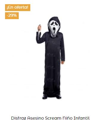 disfraz de scream niños infantil