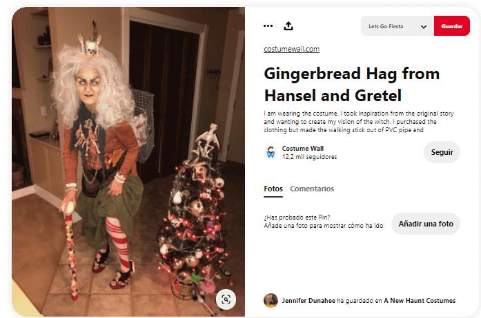 disfraz bruja de los caramelos Hansel y Gretel