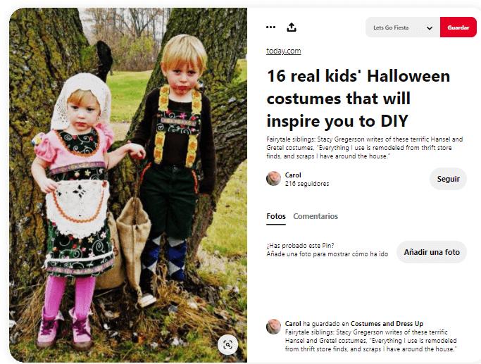 disfraz de Hansel y Gretel para niños caseros