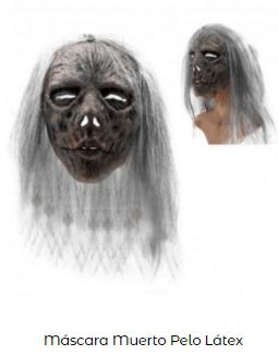 máscara disfraz bruja