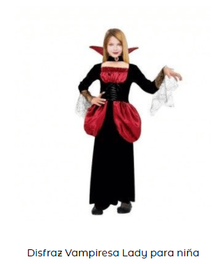 disfraz entrevista con el vampiro condesa niña clásica película terror 90