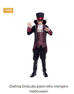 disfraz entrevista con el vampiro niño clásico