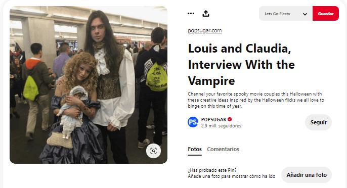 disfraz entrevista con el vampiro casero