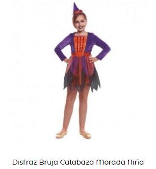 disfraz hocus pocus bruja niña calabaza