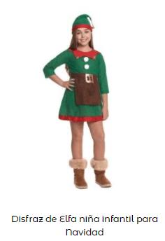 disfraces Navidad tradicionales elfa papa noel