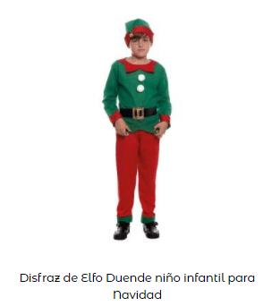 disfraces Navidad tradicionales elfo papa noel