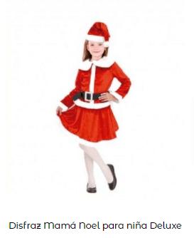 disfraces Navidad tradicionales mama noel niña