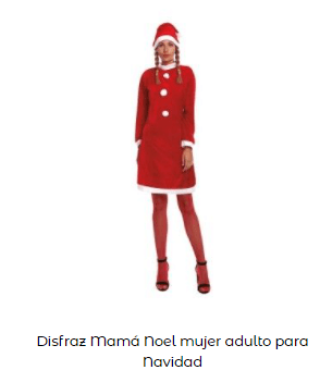 disfraces Navidad tradicionales mama noel mujer
