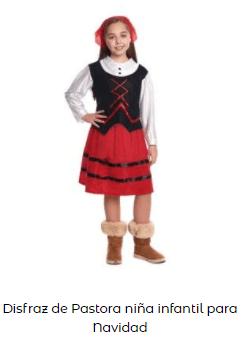 disfraces Navidad tradicionales niña pastorcilla