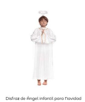 disfraces Navidad tradicionales para niños ángel