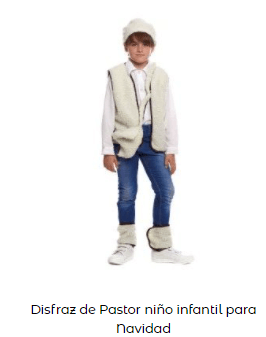 disfraces Navidad tradicionales para niños pastor