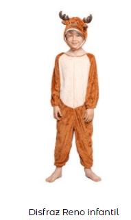 disfraces Navidad tradicionales para niños rudolf reno