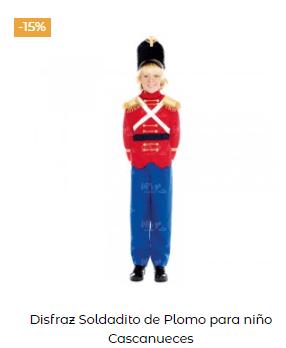 disfraces Navidad tradicionales para niño soldadito plomo
