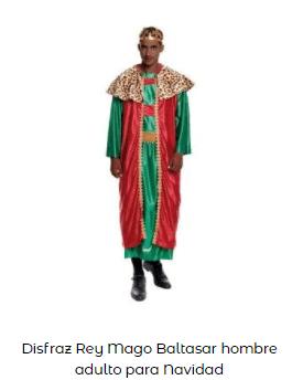 disfraces Navidad tradicionales rey mago baltasar