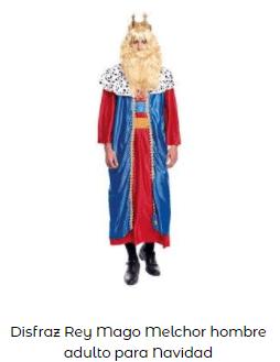 disfraces Navidad tradicionales rey mago melchor