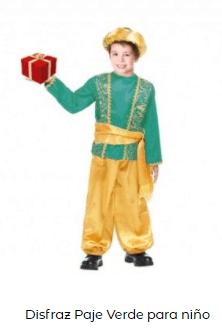 disfraces Navidad tradicionales rey mago paje