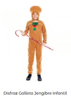 disfraces de Navidad originales galleta jengibre