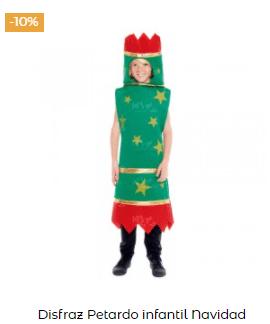 disfraces de Navidad originales baston petardo