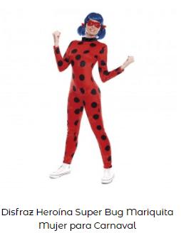 disfraces de Navidad superheroes lady bug mujer