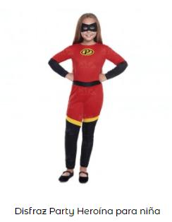 disfraces de Navidad superheroes increibles niña
