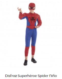 disfraces de Navidad superheroes spiderman