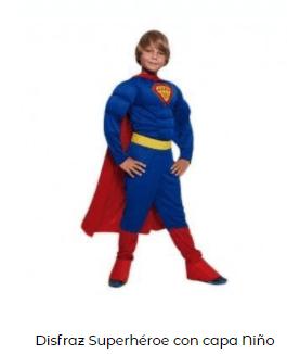 disfraces de Navidad superheroes superman niño
