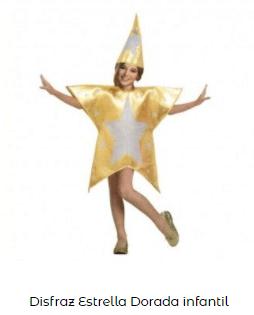 disfraces Navidad tradicionales para niños estrella