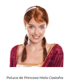 disfraces frozen para mujer anna peluca en navidad