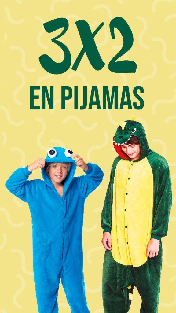 3x2 Pijamas Originales Descuento Let's Go Fiesta
