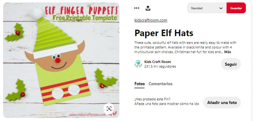 títeres con dedos navidad duende