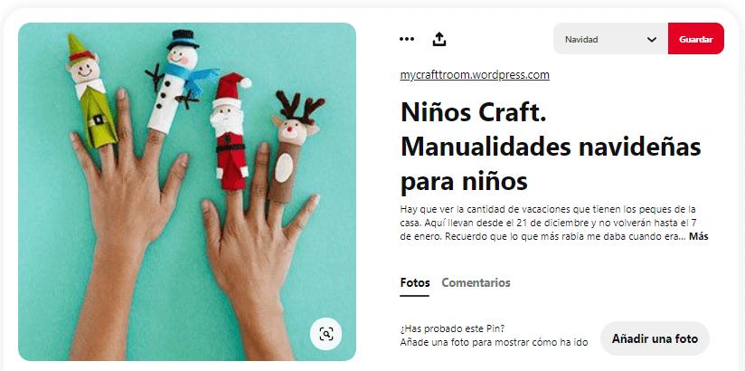 títeres con dedos navidad tubo