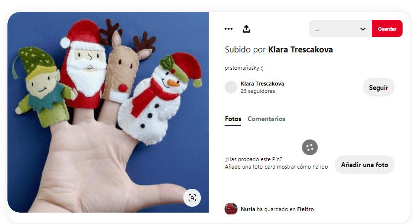 titeres de dedos navidad
