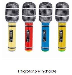 micrófono hinchable villancicos navideño
