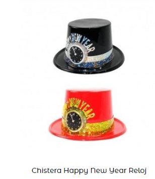 sombrero nochevieja complementos año nuevo reloj